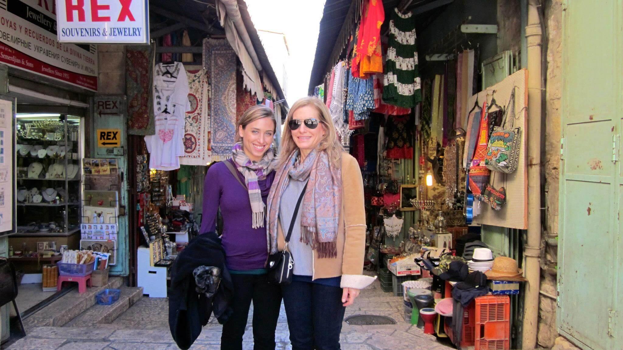 tourists in Israel, Jaffa market