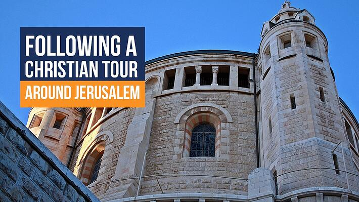 Following a Christian Tour Around Jerusalem header