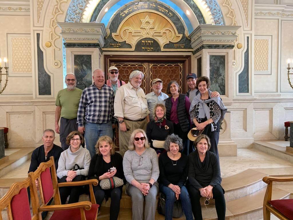 Group at the Beth El Synagogue in Casablanca
