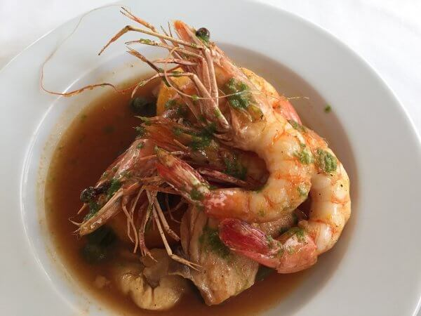 2016-08-15 19.10.36 Red snapper topped with jumbo shrimp at Cafe Laurent