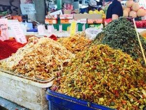 Byriani spice mixes at Carmel Market, Tel Aviv