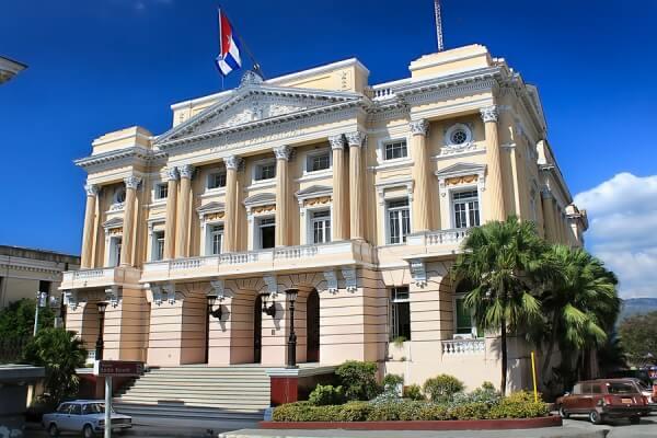 A view of Emilio Bacardi museum in Santiago de Cuba, Cuba