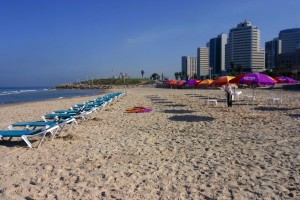 Hilton Beach summer time in israel fun