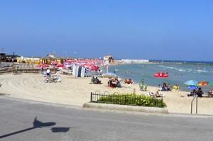Metzitzim beach summertime in israel
