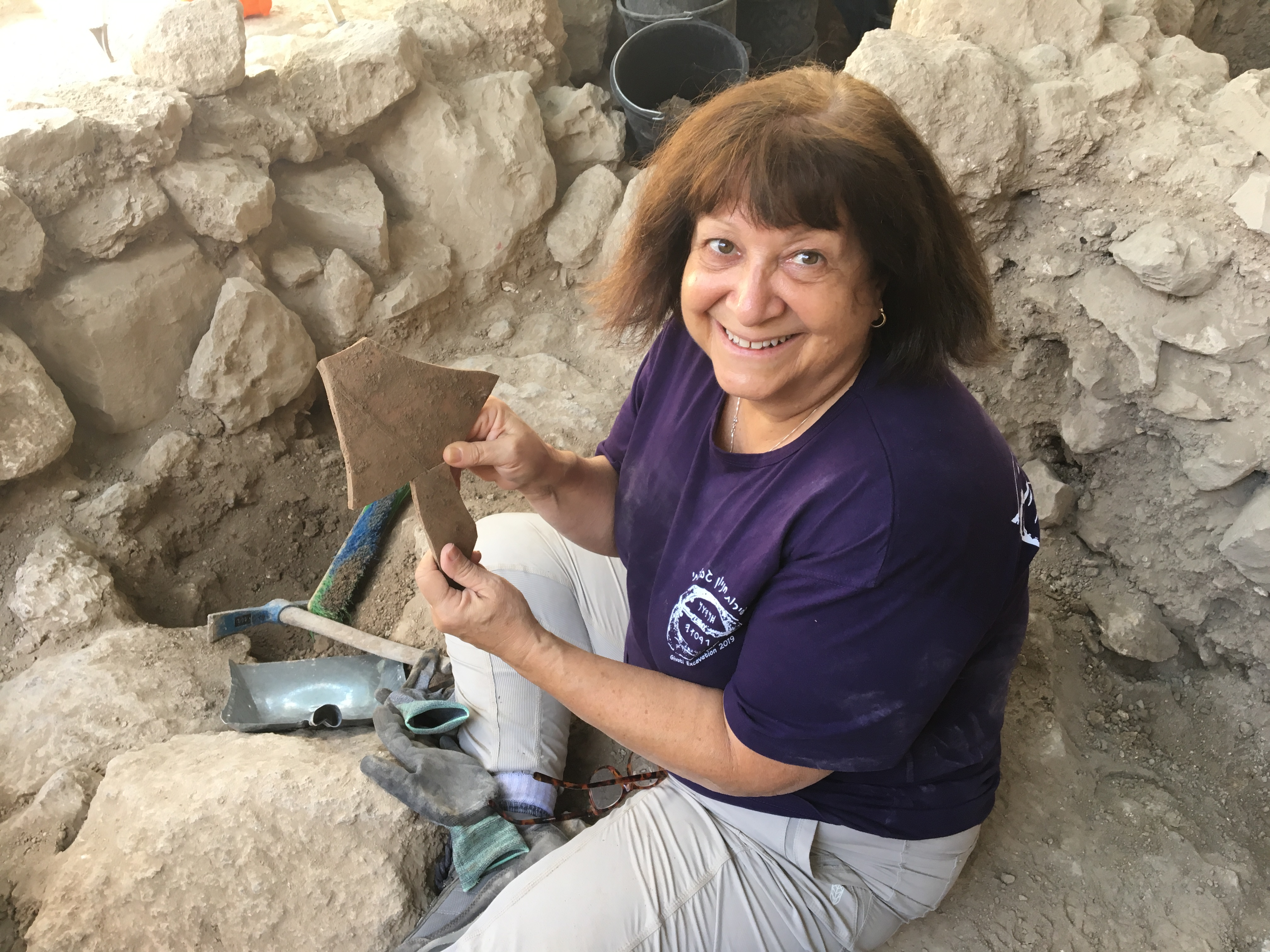 Archaeology digging in Jerusalem in Israel, my pieces fit